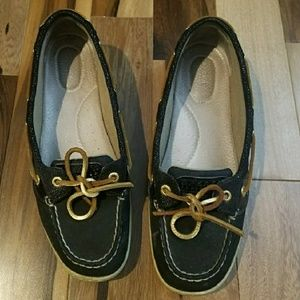 🌟Black / Gold Sperry Top-Sider